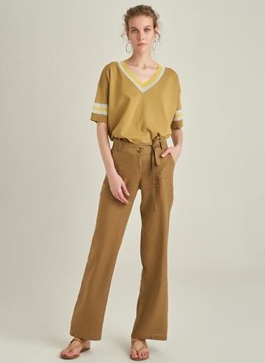 Ng Style Keten Kumaşlı Pantolon Haki